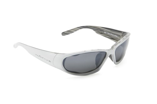 Native Eyewear Bolt Sunglasses, Snow Streak with Silver Reflex (Gray) - Sunglasses Native Bolt