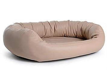 Cama para perros Fancy, funda de piel sintética, en color marrón claro, ortopédica, Memory foam, un richtiges Wohlfühl de cama: Amazon.es: Productos para ...