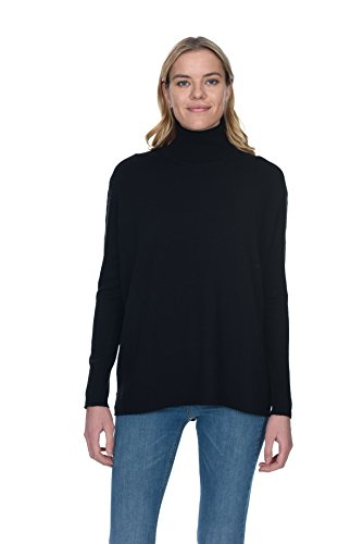 - State Cashmere Women's 100% Pure Cashmere Tunic Turtleneck Sweater