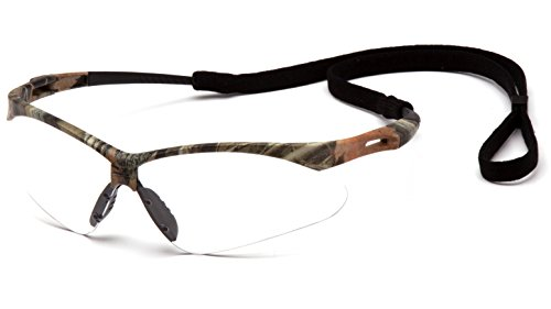 - Pyramex Safety PMXTREME Eyewear, Camo Frame with Cord, Clear Anti-Fog Lens