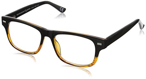 060 Square - Foster Grant Eyezen Digital Glasses -  Black/Brown Stripe