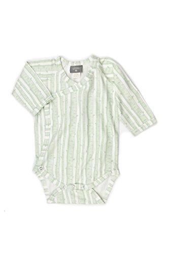 Kate Quinn Organics Unisex-baby Long Sleeve Kimono Bodysuit, 3-6M (Spruce Birch) (Kimono Unisex)