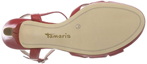 Tamaris Dames 28009 Slingback Sandalen Rood (chili)