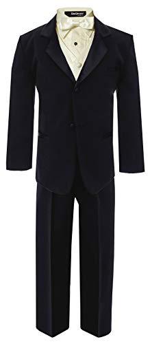 Big Boy's Formal Dresswear Set G260 (12, Black/Ivory)