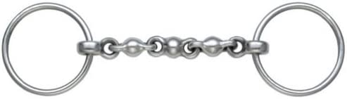 3.5-6.25 in 1//4 Sizes Size William Hunter Equestrian Dressage Eggbutt Snaffle//Bit Small Ring