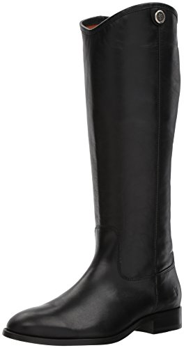 FRYE Women's Melissa Button 2 Riding Boot, Black, 8 M US