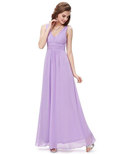 V-Neck Ruched Waist Dress - 7