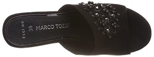 27218 black Tozzi Musta Marco Naisten Muulit T6AYnq
