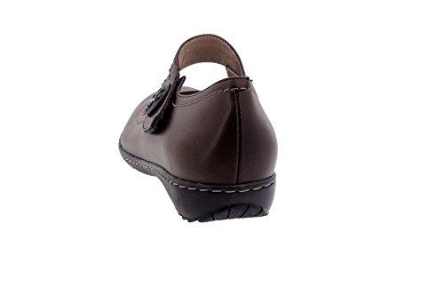 Komfort Damenlederschuh Piesanto 1705 riemchenschuh schuhe freizeitschuh bequem breit Caoba