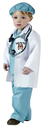 [Fun World Costumes Baby's Little Pet Vet Toddler Costume, Green/White, Small] (Doctor Costumes For Toddlers)