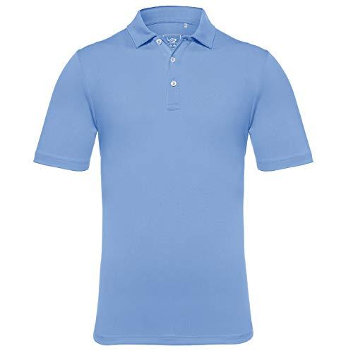 - EAGEGOF Men's Regular Fit Golf Polo Shirt Short Sleeve Stretch Quick Dry Performance Polo(Sky Blue, XL)