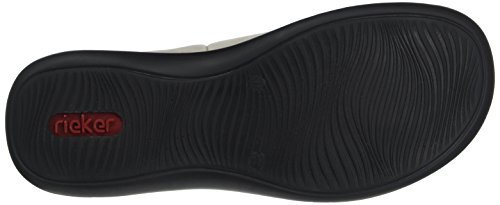 Rieker Damen-Slipper Grau 942280-9 Staub/Grey KBisqUfN
