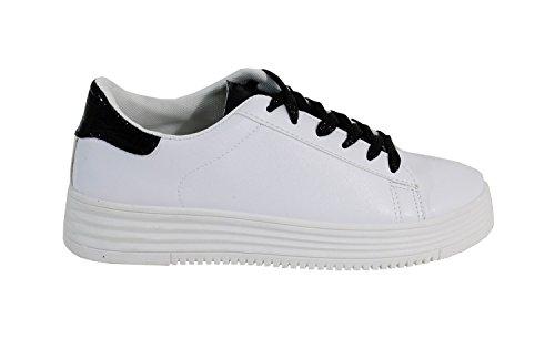 Style Cuir Plateforme By Femme avec Tennis Shoes SnHfqXUwIx
