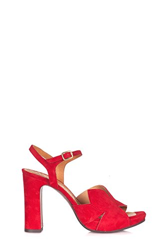 Chie Mihara Donne Cross32red Sandali Camoscio Rosso