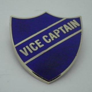 Vice Captain Enamel School Shield Badge - Blue - Pack of 5