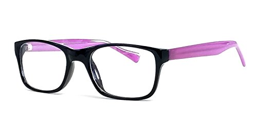 Soho 122 in Black-Purple Designer Reading Glass Frames ; Demo - Frames Soho Eyeglass
