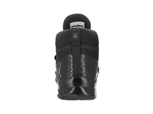 JORDAN SUPER.FLY 5 PO Herren Basketball-Schuhe 881571 Schwarz / Metallic Gold Schwarz