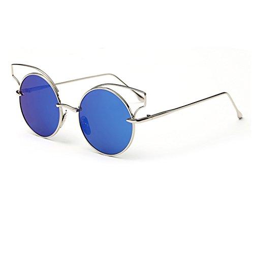 Metallic de Round 7 Découpe Couleur Lunettes Eye Sunglasses Lunettes Reflective Cat 4 des Film Color Retro Lunettes Soleil Lunettes Soleil de p17Fwvq