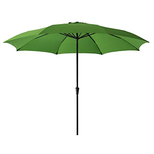 FLAME&SHADE 11' Patio Umbrella Large Market Style for Outside Deck Balcony Table or Outdoor Pool, Apple Green (Foot 11 Umbrella)