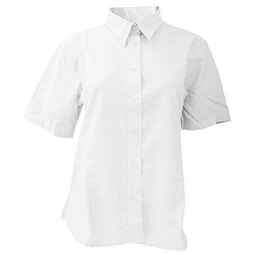 Dickies- Blusa de manga corta para mujer Blanco