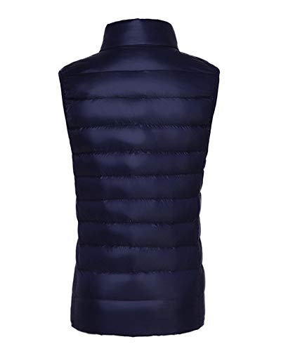 AnyuA Warmers Standing Navy Puffer Gilets Body Collar Vest Women's Coat Padded Jacket Sleeveless Down r6rqYR