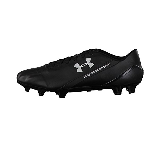 Under Armour Speed forma CRM Leather FG – Scarpe da calcio da uomo Nero/Argento