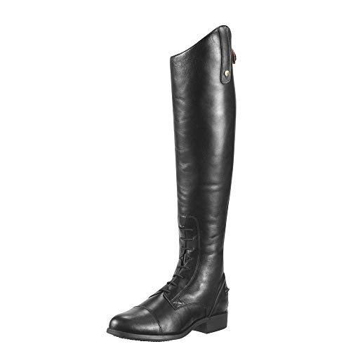 ARIAT Women's Heritage Contour Field Zip Tall Riding Boot Black Size 8 B/Medium Us
