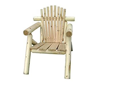 Rustic Outdoor White Cedar Log Adirondack Chair- Amish Made in the USA