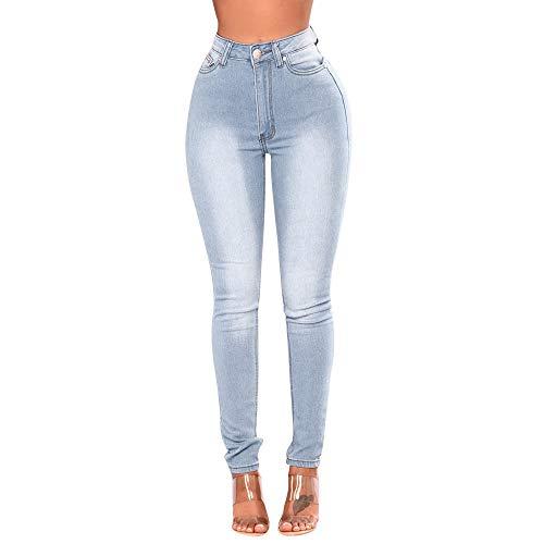 Pants Denim Energie (POQOQ Jeans Pants Women Skinny Denim High Waist Stretch Slim Pencil Trousers XXS Blue)