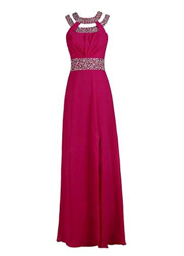 Rosa 48 Line simil o da A Chiffon da MISSYDRESS abito sera motivo da Rosso donna di 'Bridesmaid in dotati afIFTq