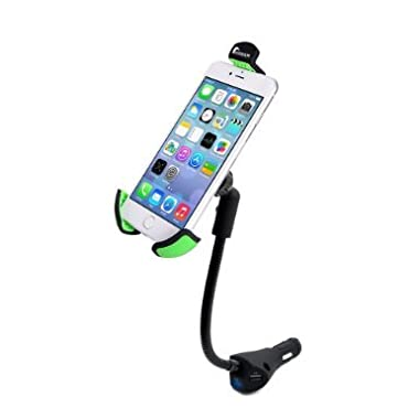 Moobom Universal 3-in-1 Car Mount Charger with 3 USB Charging Ports Smartphone Dock Cradle Holder Stand for IPhone and Android Devices