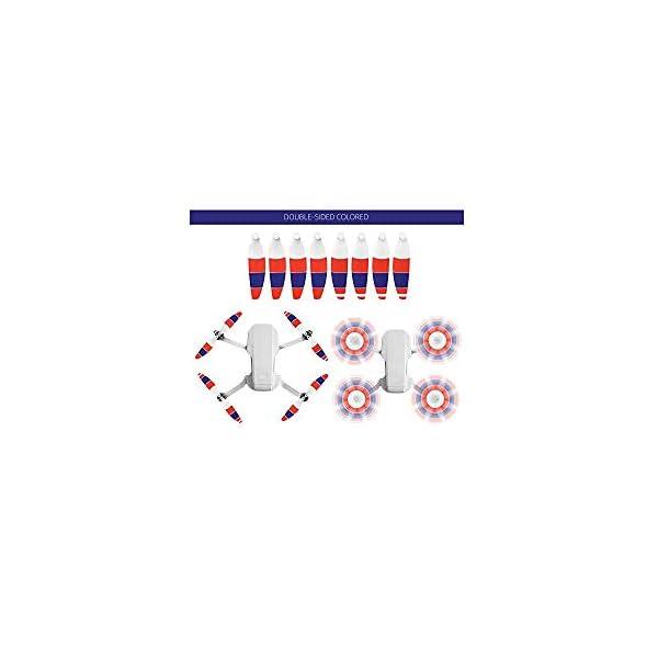 TUTUO 4 Coppie di Eliche a Basso Rumore per DJI Mini 2 Leggera, Facile da Piegare e Montare, Grande Spinta, Buon Equilibrio, Sicuro e Resistente,Accessori di Compatibile per Mavic Mini 2 Drone 2 spesavip