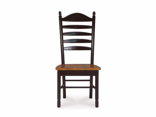 Madison Park Ladder-Back Chair w Solid Wood Seat - Set of 2