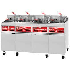 200 lb Four Battery Electric All-Purpose Fryer w