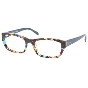 Prada PR18OV Eyeglass Frames NAG1O1-52 - Havana Spotted Blue