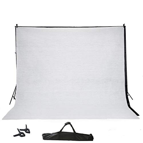 BalsaCircle 8 ft x 10 ft Photo Video Studio Backdrop Stand Kit Background Support System Wedding Photography + 2 Free ()
