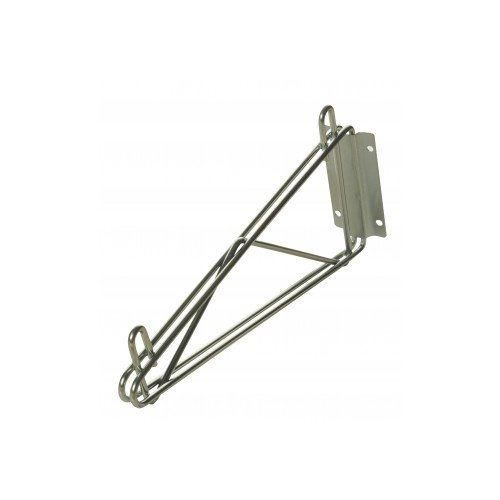 Focus Foodservice FWB14SCH Direct Wall Mount Bracket, Single, Fits 14'' Shelves, Chromate Finish by Focus Foodservice
