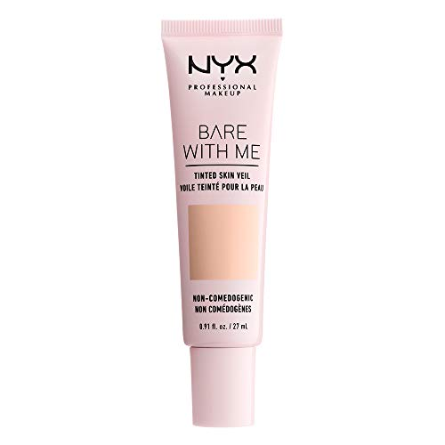 NYX PROFESSIONAL MAKEUP Bare with Me Tinted Skin Veil, Pale Light, 0.9 Fluid Ounce