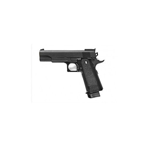 Galaxy - pistola para airsoft tipo Hi-Capa con resorte completamente de metal, de recarga manual (0,4 julios)