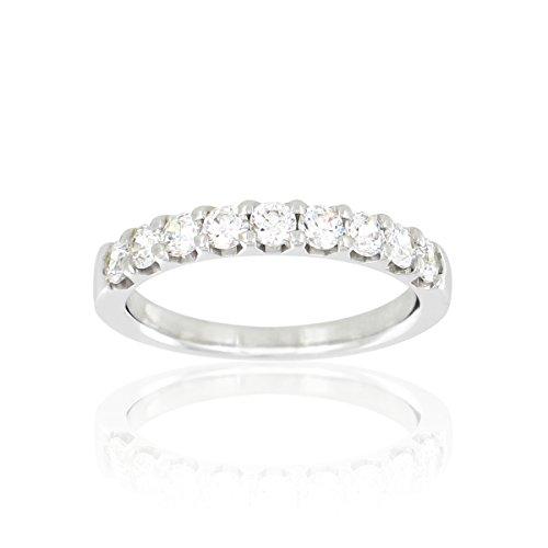 Tousmesbijoux Alliance demi tour en Or blanc 375/00 Diamant 0,63 carat