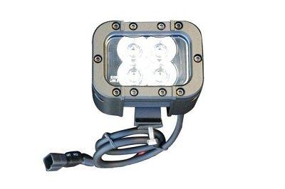Colored LED Light Emitter - 12 Watts - 4 LEDs - 9-42VDC - Red, Blue, Green, Amber, White - IP68(-Black-Spot-Red) Led Light Emitter Bar