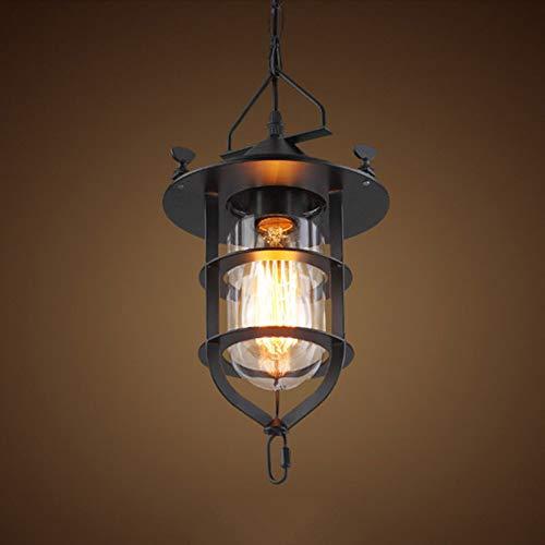 FidgetFidget Retro Loft Chandelier Ceiling Light Fixtures Bar Restaurant Pendant Lamp Lantern by FidgetFidget (Image #4)