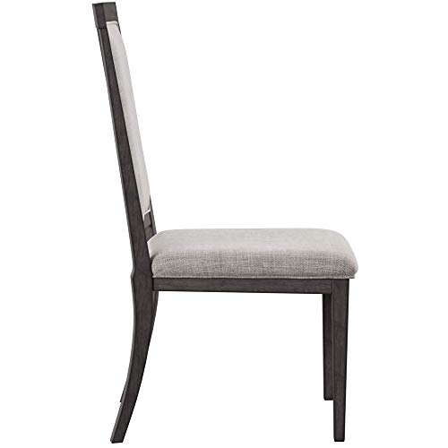 Ashley Furniture Signature Design - Chadoni Dining Side Chair - Set of 2 - Upholstered - Metal Accents - Smoky Gray Finish by Signature Design by Ashley (Image #4)