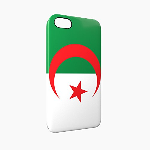 Flag of Algeria Glossy Hard Snap-On Protective iPhone 5 / 5S / SE Case Cover