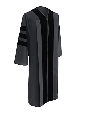 Acadima Classic Doctoral Graduation Gown 48 (5'3