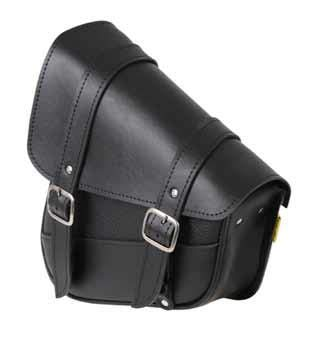 9776-00 Triangulated Synthetic Leather Motorcycle Swingarm Bag: Black, 9 Liter Capacity ()