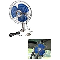 Sitwell Car Fan 12V DC with Switch, Steel Rod and Complete Wiring and Auto Rotation, 6-inch