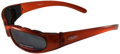 Global Vision Motorcycle Riding Glasses (Orange Frame/Flash Mirror Dark - Glasses Amazon Mirror