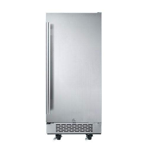Built-In or Free Standing Compact Refrigerator with LED Lighting (Outdoor Rated - Right Hinge)