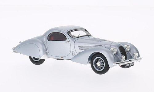talbot-t23-figoni-falaschi-teardrop-coupe-matt-silver-1938-model-car-ready-made-spark-143